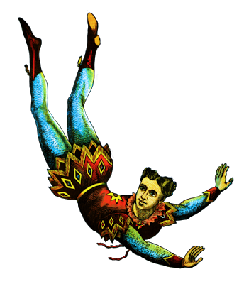 free clip art of an acrobat from a vintage circus bill resto rh pinterest com vintage circus tent clip art Circus Animal Clip Art