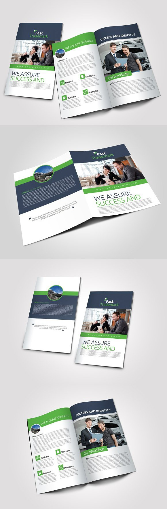 4 pages business bi fold brochure brochures card templates and 4 pages business bi fold brochure creative business card templates accmission Images