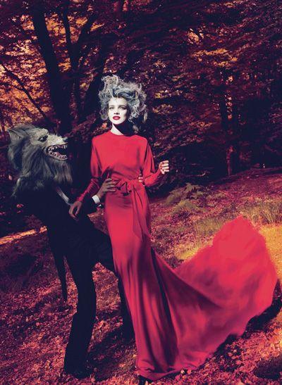Grace Coddington  Little Red Riding Hood  Vogue, September 2009