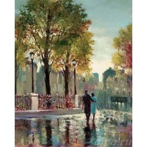 После дождя ( художник Брент Хейтон ) Раскраска ( картина ...