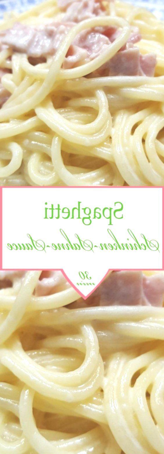Spaghetti mit Schinken-Sahne-Sauce -