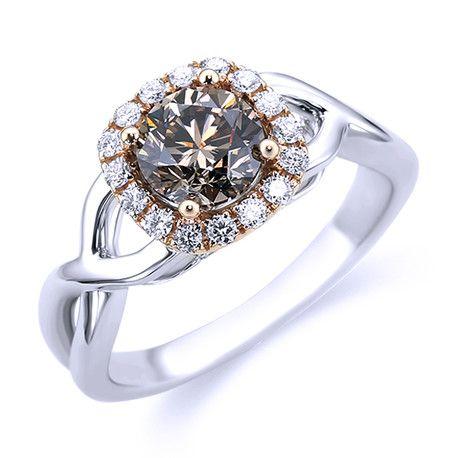 Cognac Diamond Engagement Ring Andrews Jewelers Buffalo NY