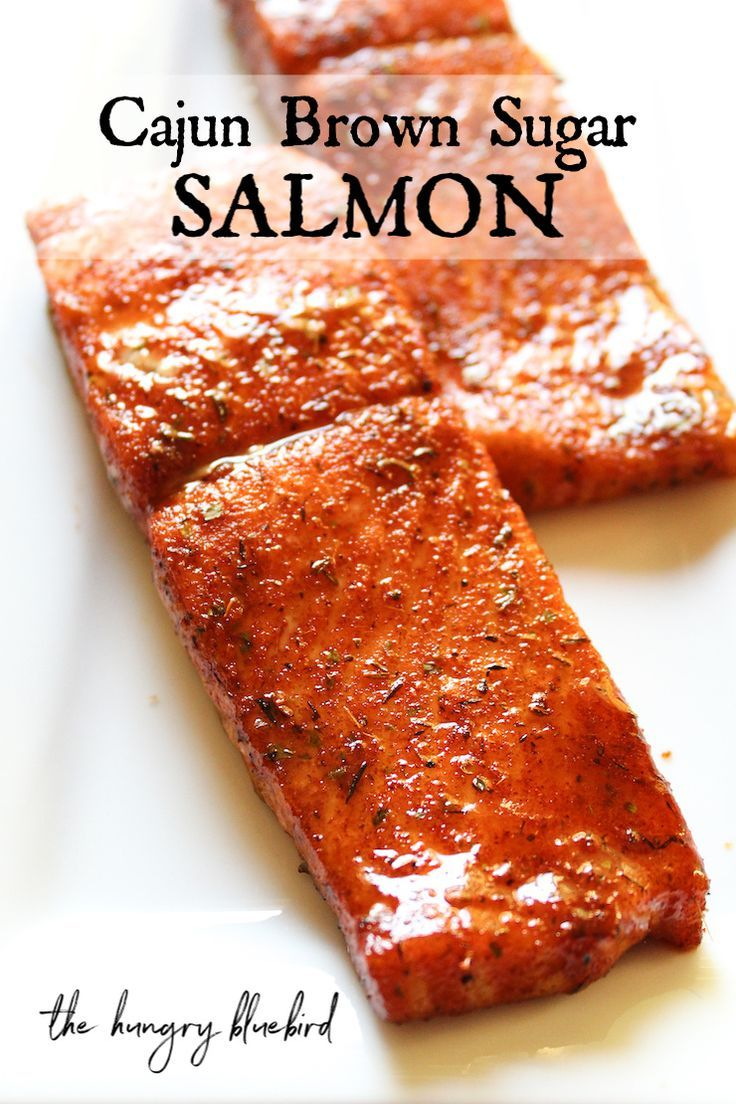 Sweet and Spicy Cajun Brown Sugar Salmon