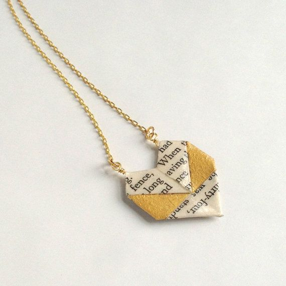 60 Awesome Creative And Fun Book Necklaces Origami Necklace