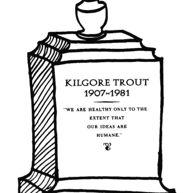 """Kurt Vonnegut Illustration, """"Breakfast Of Champions"""
