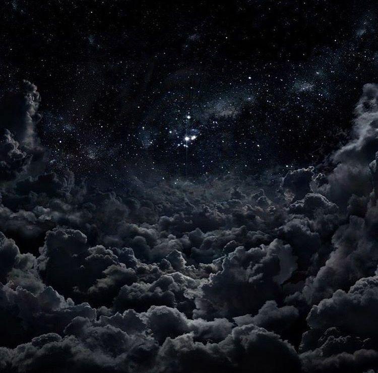 black clouds in a