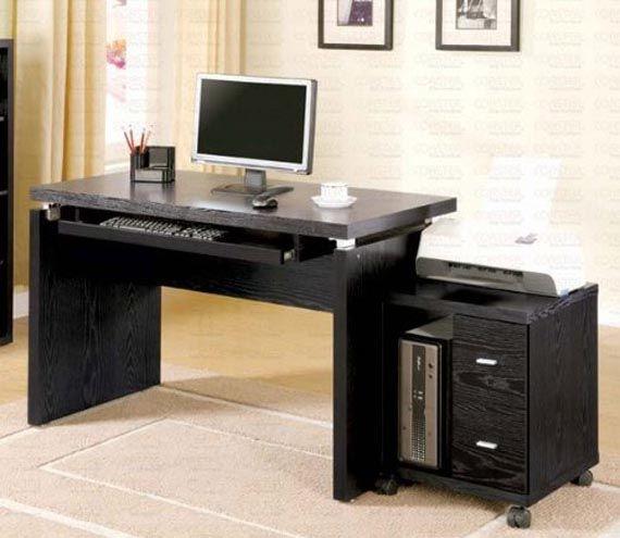 Wooden Computer Desk Design Home Office Furniture With Mobile Computer Design Fur Zuhause Design Schreibtisch Schreibtische Fur Kleine Raume