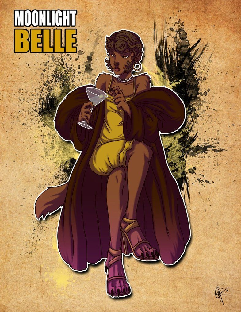 beastly belle has a sweet outfit (& talons/hair)