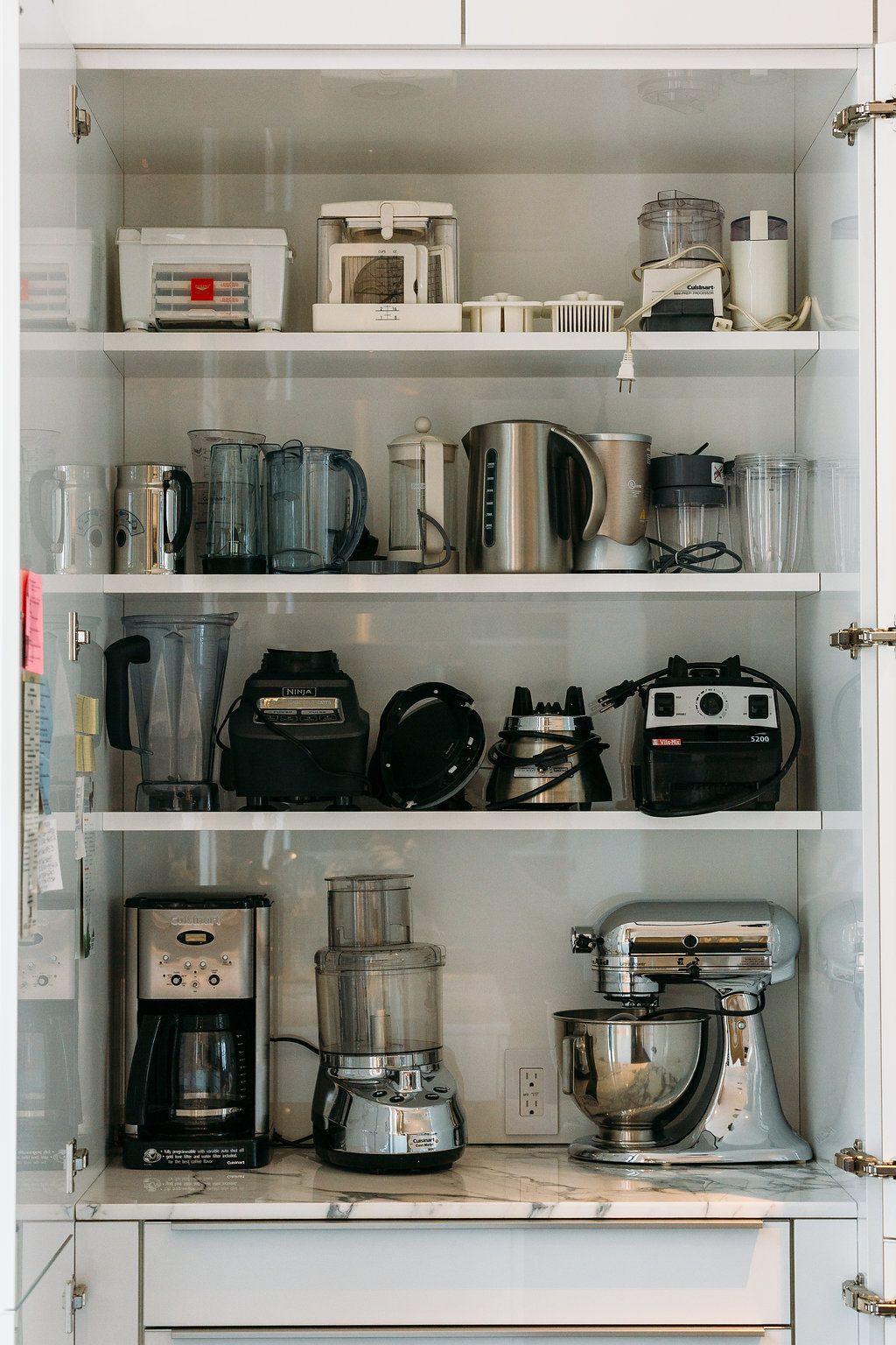 Appliance cabinet | Kitchen appliances organization ...