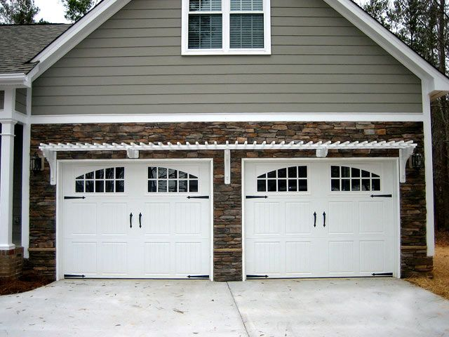 double car two door outdoors garage door design. Black Bedroom Furniture Sets. Home Design Ideas