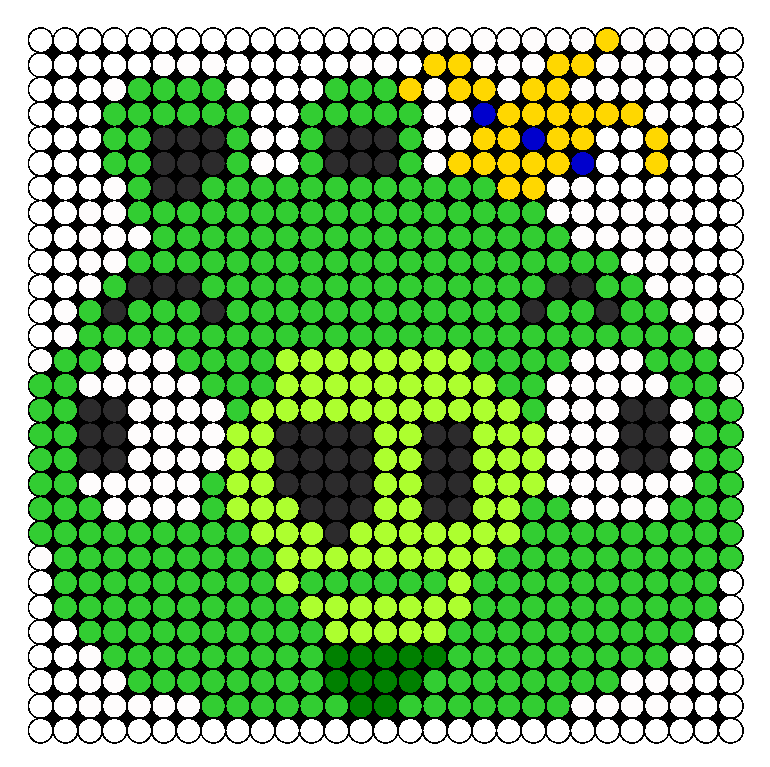 King Pig Perler Bead Pattern  a9180ccc066