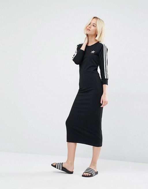 9dd7075c3e9f ASOS adidas Originals - Robe longue à trois bandes 47