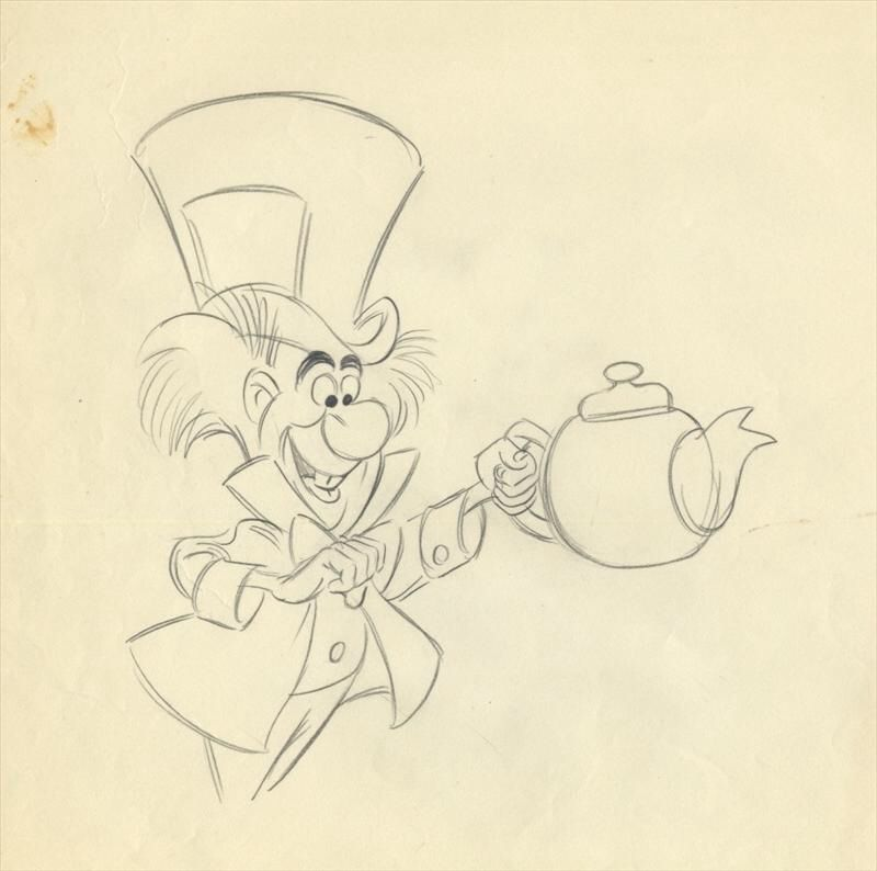 Mad Hatter Drawing Alice In Wonderland Drawings Mad Hatter