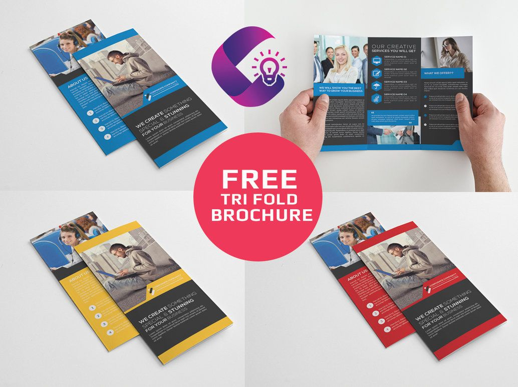 tri fold corporate brochure multipurpose design is very easy to