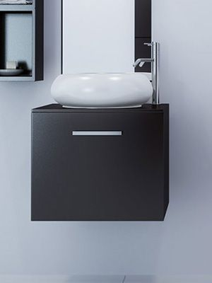 "21.75""w x 19 deep Orion Single Vessel Sink Vanity $579 ..."