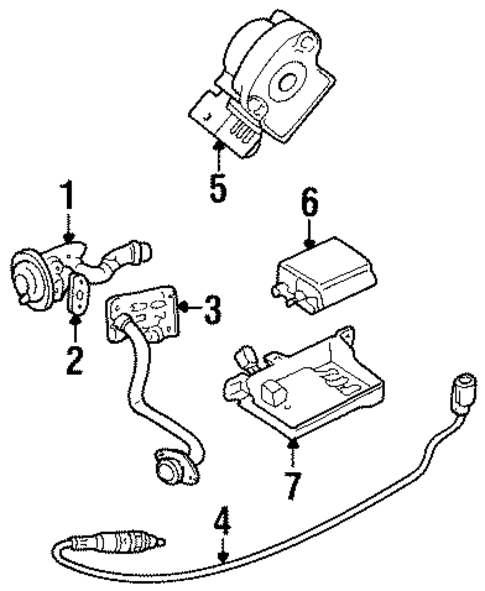 throttle position sensor - 1996 mercury mystique (f5rz9b989ba)