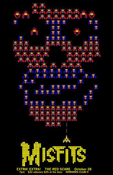 The Misfits. Space invaders Crimson Ghost.