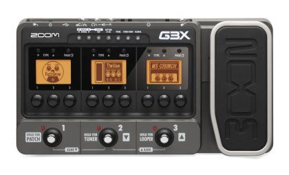 Zoom G3x Guitar Multi Effects Pedal Guitar Effects Effects Pedals Guitar Pedals