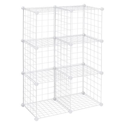ClosetMaid Wire 6 Cube Organizer White   Decorate And Use For Craft Show  Display