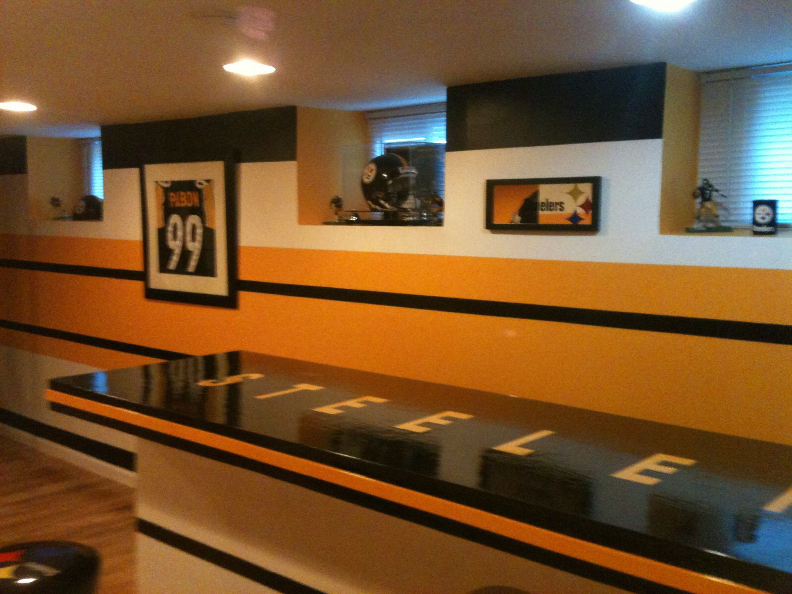 Steelers Bedroom Ideas Our Steelers Man Cave Our Steelers Man Cave. Pinterest