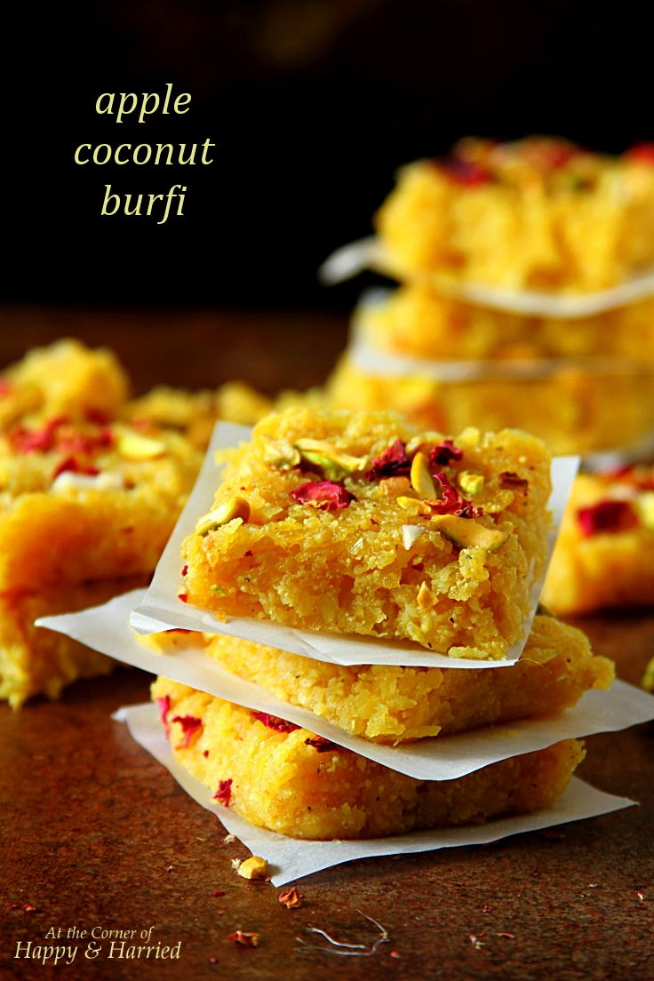 Apple Coconut Burfi- Indian Simmer