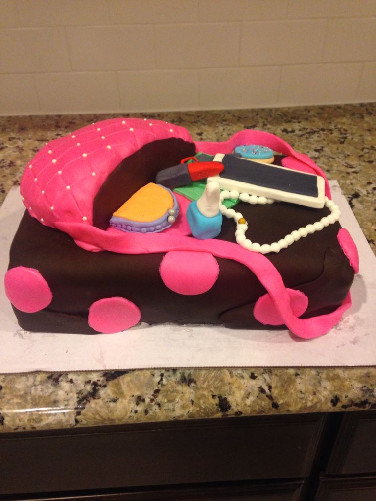 Girls Purse Birthday Cake I Made For 10 Year Old Party