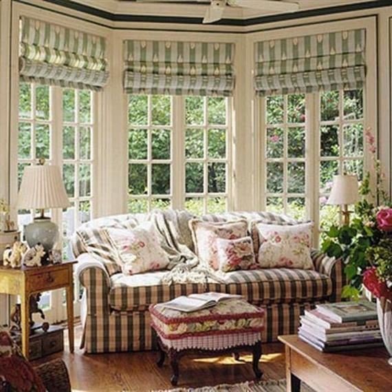 14 Beautiful Bay Window Treatment Ideas For Every Style Bay Window Treatments Bow Window Country Window Treatments