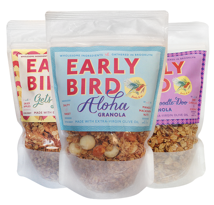 Granola packaging label type typography pattern illustration colors graphic design