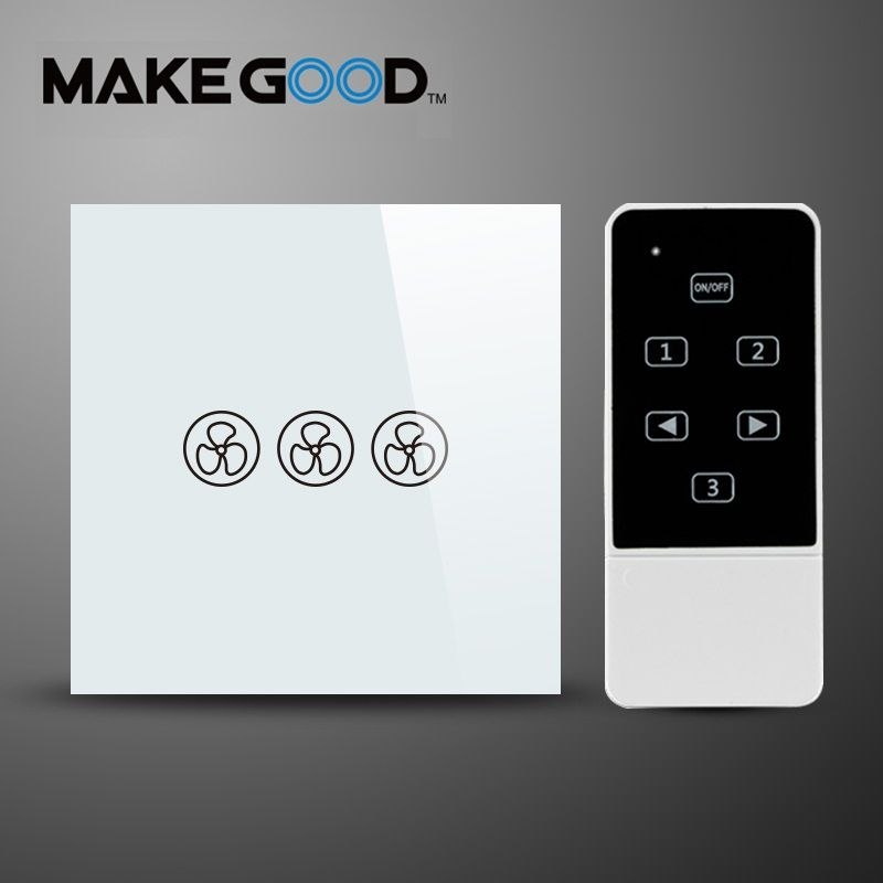 Makegood Eu Standard Fan Switch Ceiling Fan Wall Control Switch With Touch Switch Ac 110 250v 1000w For Ceiling Fan With Images Remote Control Light Light Dimmer Switch Remote Light Switch