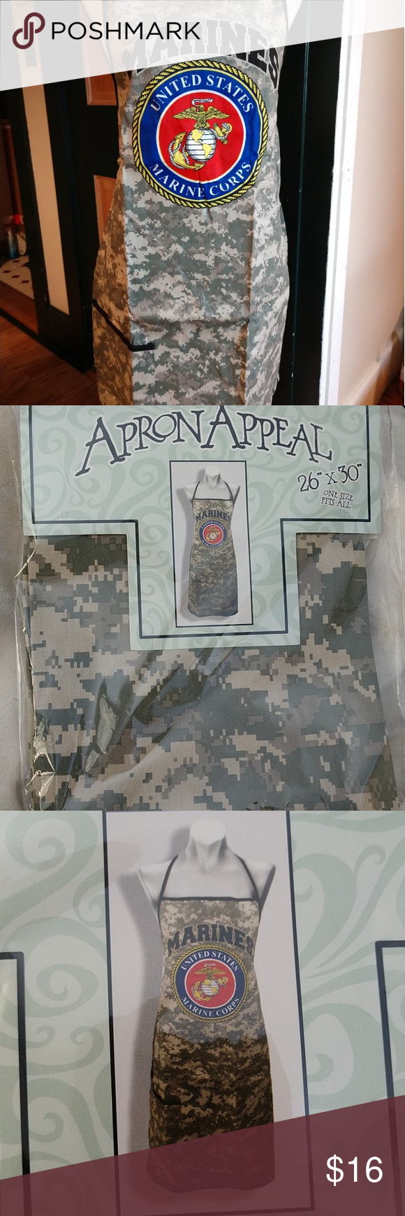 Marines apron NEW 100 cotton 1 Calling all Grill