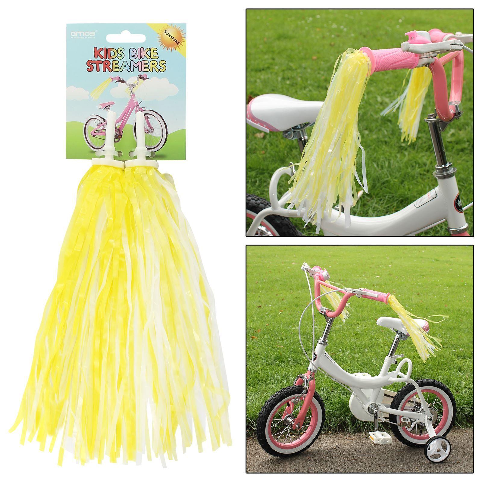 Girls Bicycle Scooter Tricycle Handlebar Streamers Tassels Kids Bike Bell