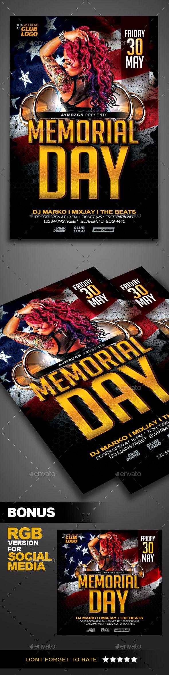 memorial day flyer template free timiz conceptzmusic co