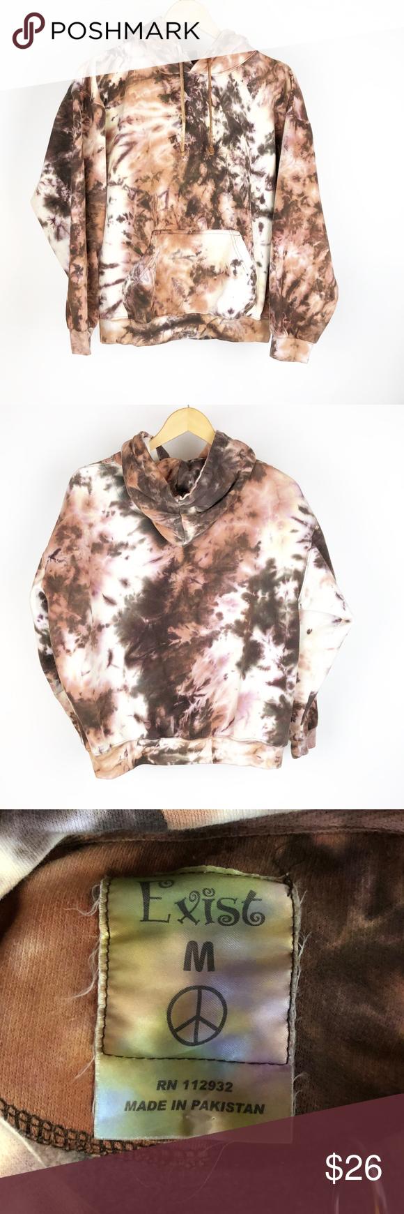 Exist Tie Dye Lace Up Sweatshirt Hoodie Sz Medium Sweatshirts Hoodie Tie Dye Sweatshirts [ 1740 x 580 Pixel ]