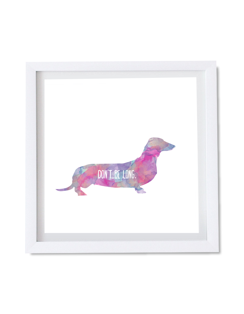 Watercolor Dachshund Art $30.00  #artposter #creativeposterdesign #dogposter #pet #posterdesign #wallartdownload #watercolor