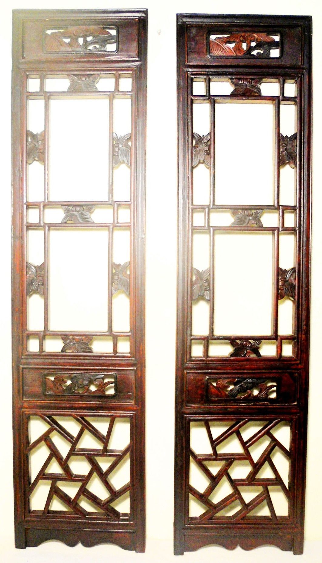 Antique Chinese Screen Panels (2535)(Pair) Cunninghamia Wood, Circa 1800-1849