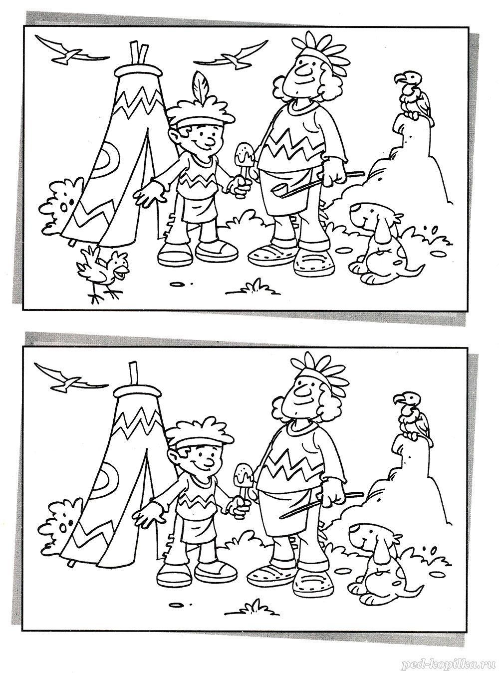 Задания «Найди отличия» для детей 7-8 лет распечатать ...