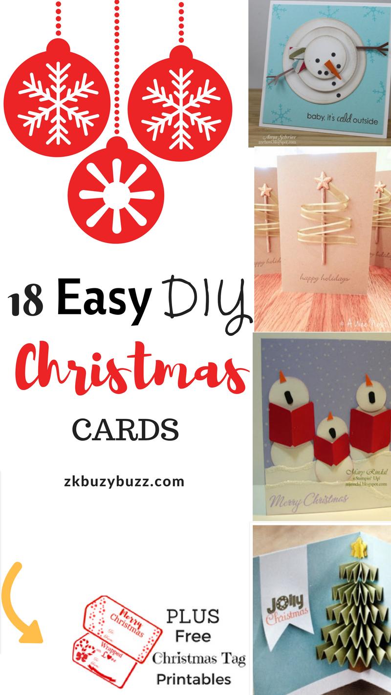 Easy DIY Christmas Card Ideas I Christmas Cards I DIY Christmas ...