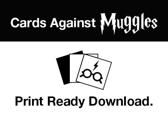 Cards Against Muggles Make Your Own Set With This Pdf Link In Comments Harrypotte Harry Potter Printables Harry Potter Printables Free Harry Potter Cards