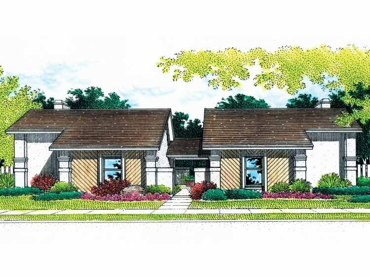 Modern Style House Plan 2 Beds 2 Baths 2166 Sq Ft Plan 45 223 Modern Contemporary House Plans Modern Style House Plans House Plans
