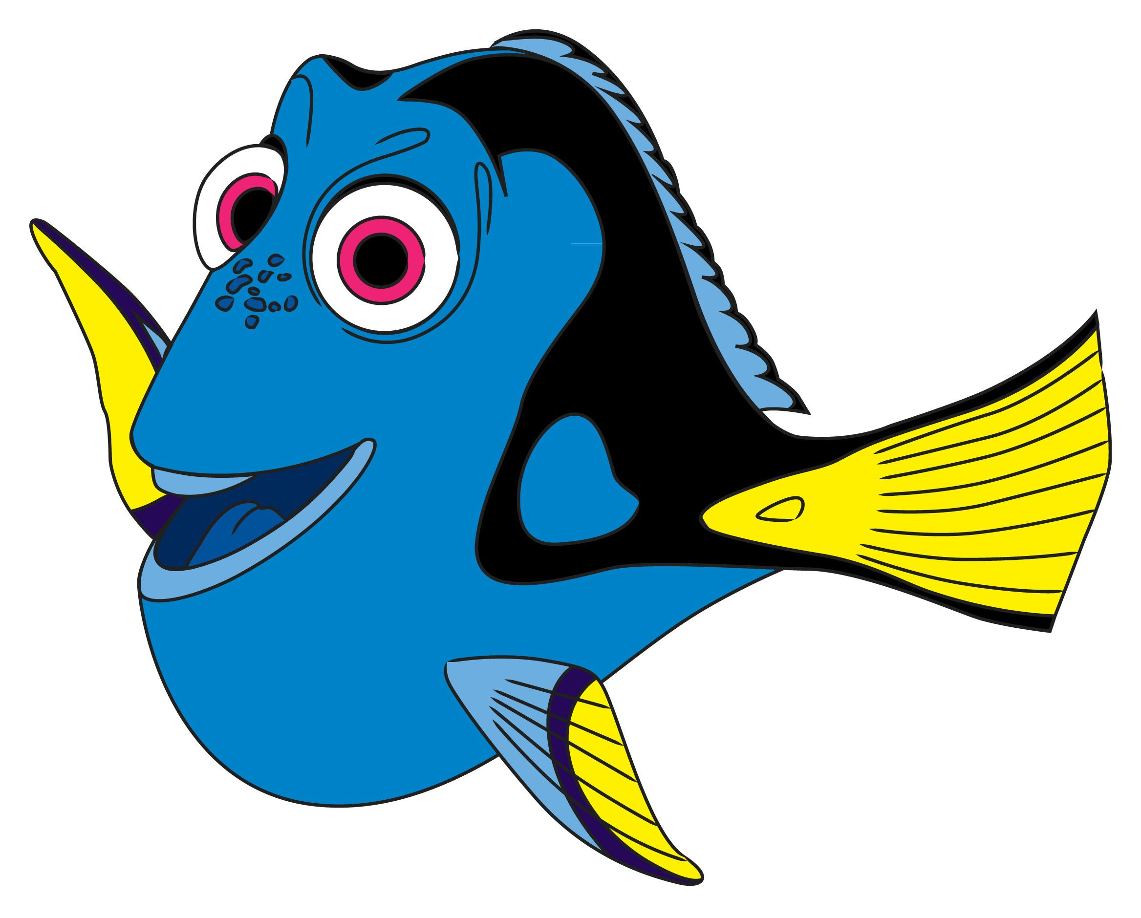 Fish outline dory. How to draw from