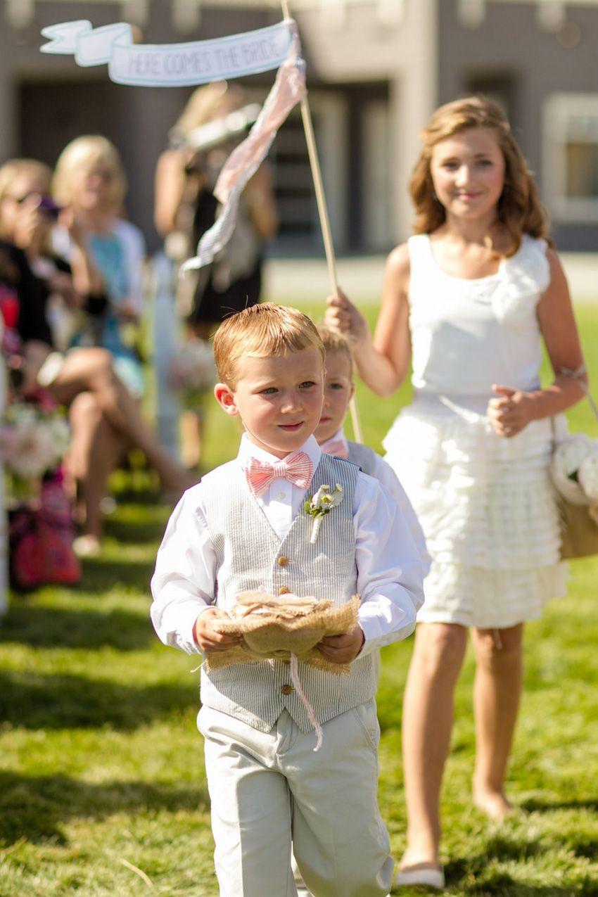 Flower Girl Ring Bearers At Avila Beach Resort Wedding In