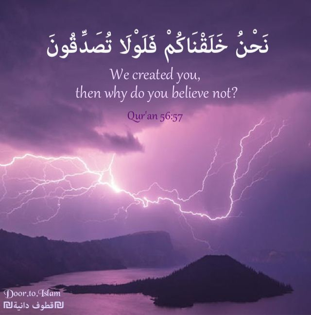 Islam Allah Quran quotes We Created you Why do you believe not ...