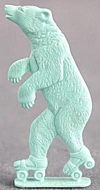 Cracker Jack Toy Prize: Bear on Roller Skates