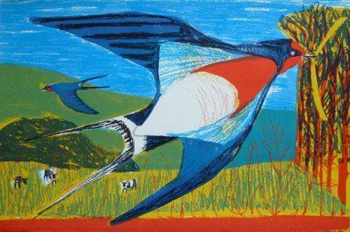 Kittie Jones   Swallow, 2013   Screen print