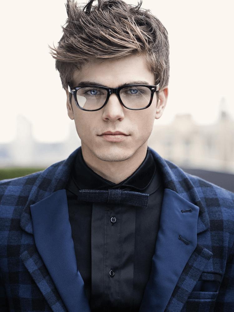 Herren Frisur Brille Hipster Mode Mann Frisur Ideen Pinterest