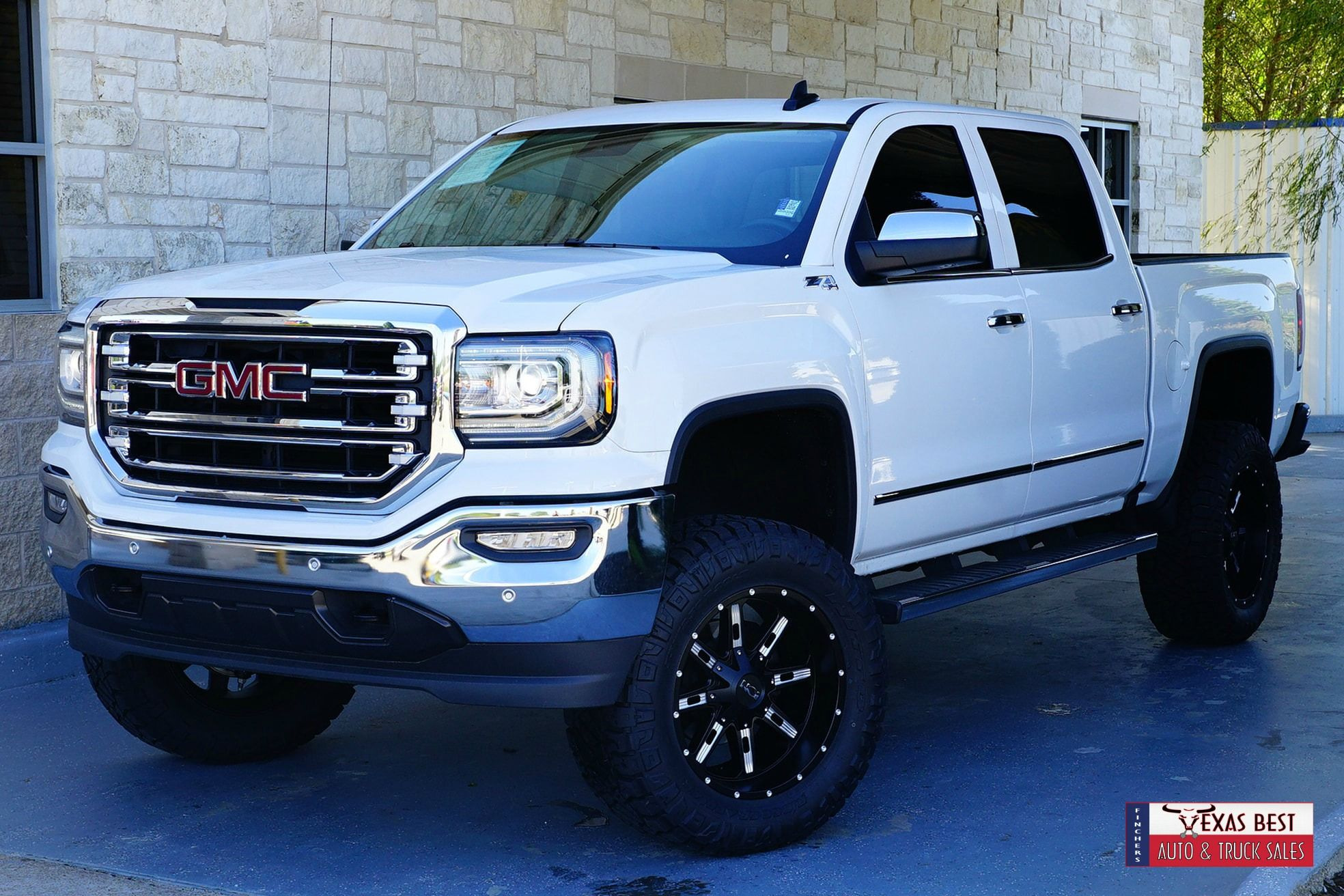 Brand New Lift Wheels And Tires 2018 Gmc Sierra 1500 Slt For Sale At Fincher S Texas Best Located In Tomball Tx Call Now F Gmc Sierra 1500 Gmc Sierra Gmc
