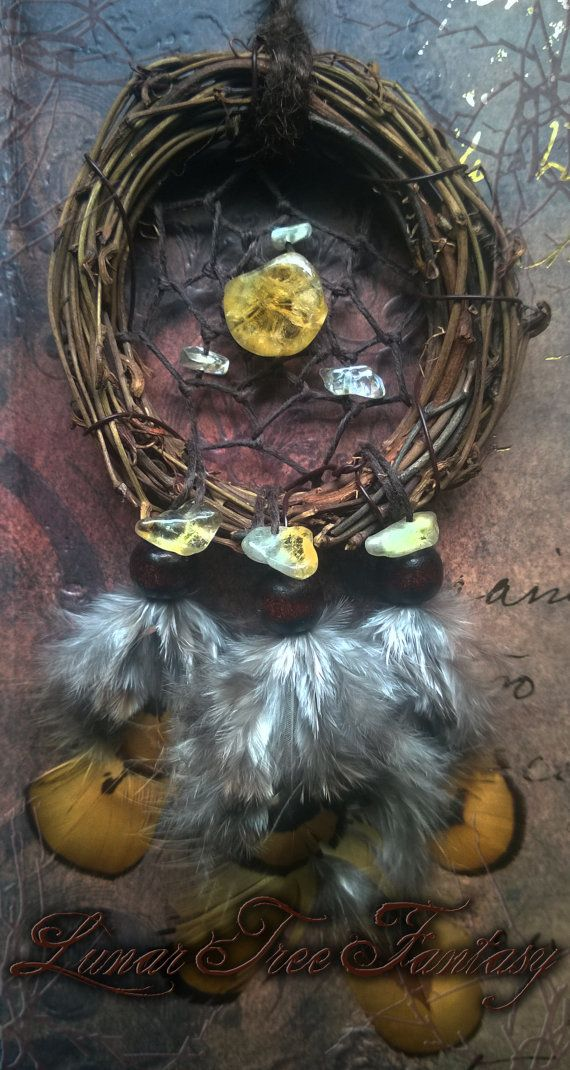Can Dream Catchers Get Full Citrine Dream Catcher by LunarTreeFantasy on Etsy Available 40 34