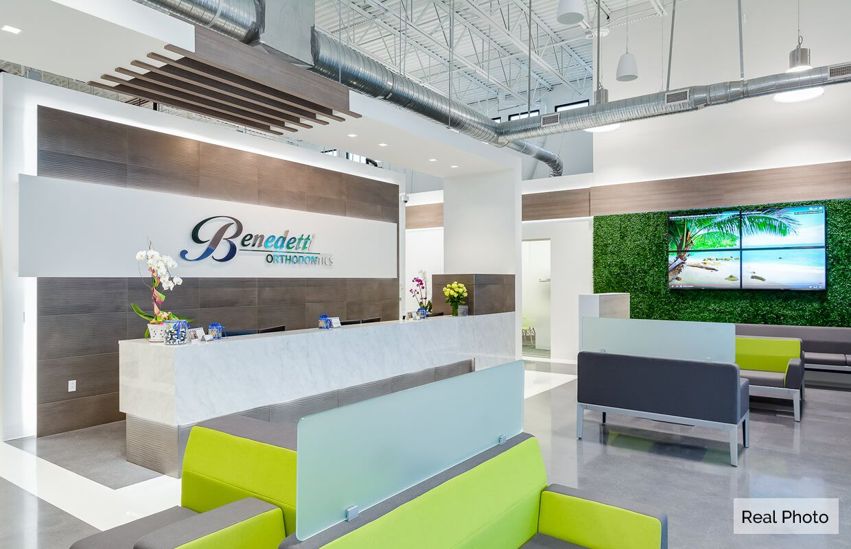 Benedetti orthodontics interior design dental clinic