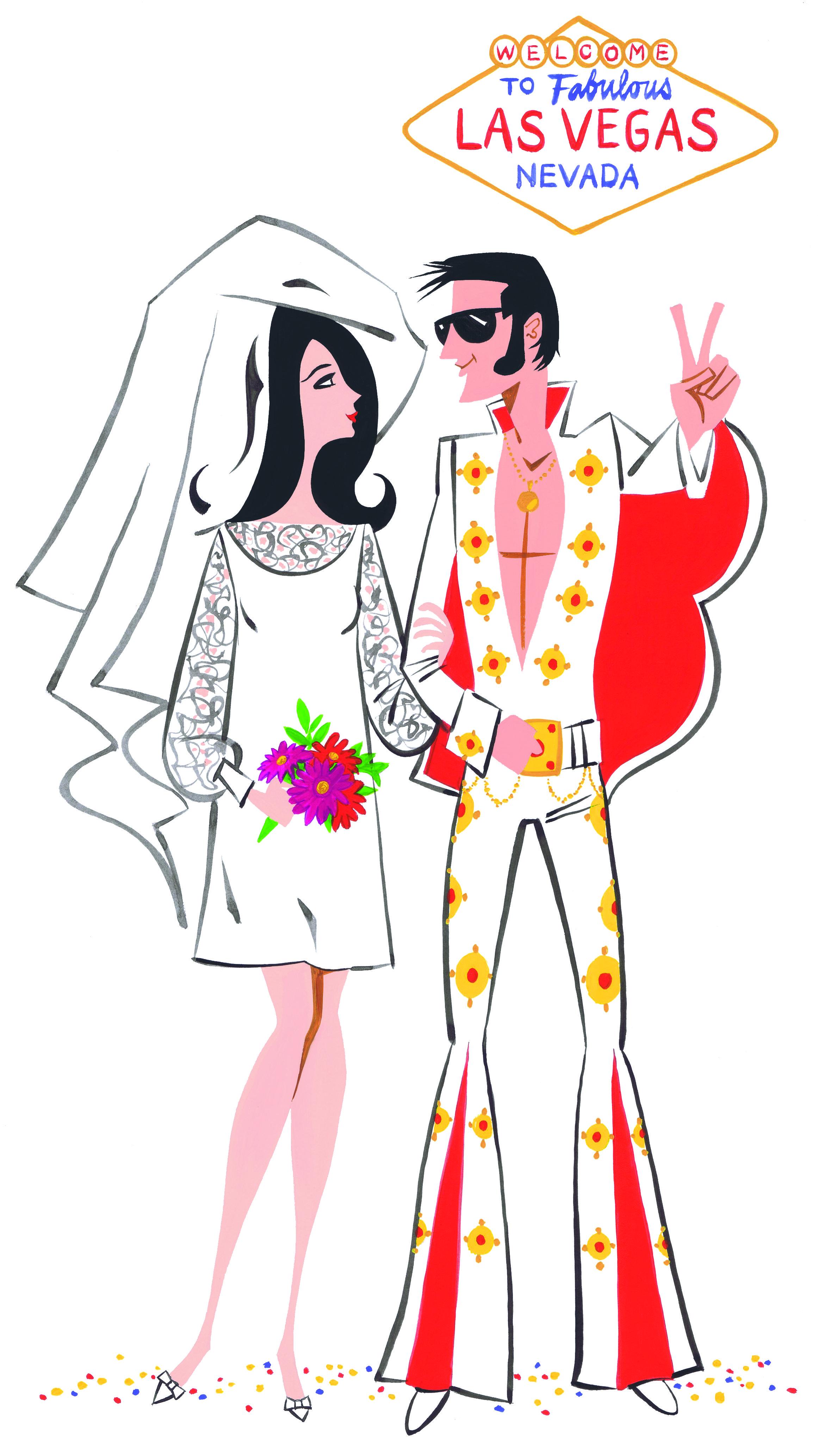 An Elvis Wedding Illustration by James Dignan #fashion fashion ...