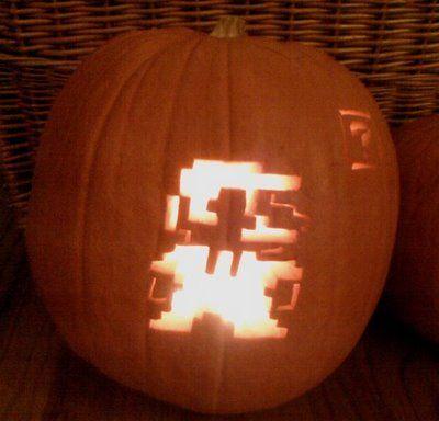 8 bit mario pumpkin stencil  7 The Most Creative Video Game Inspired Pumpkin Carvings ...